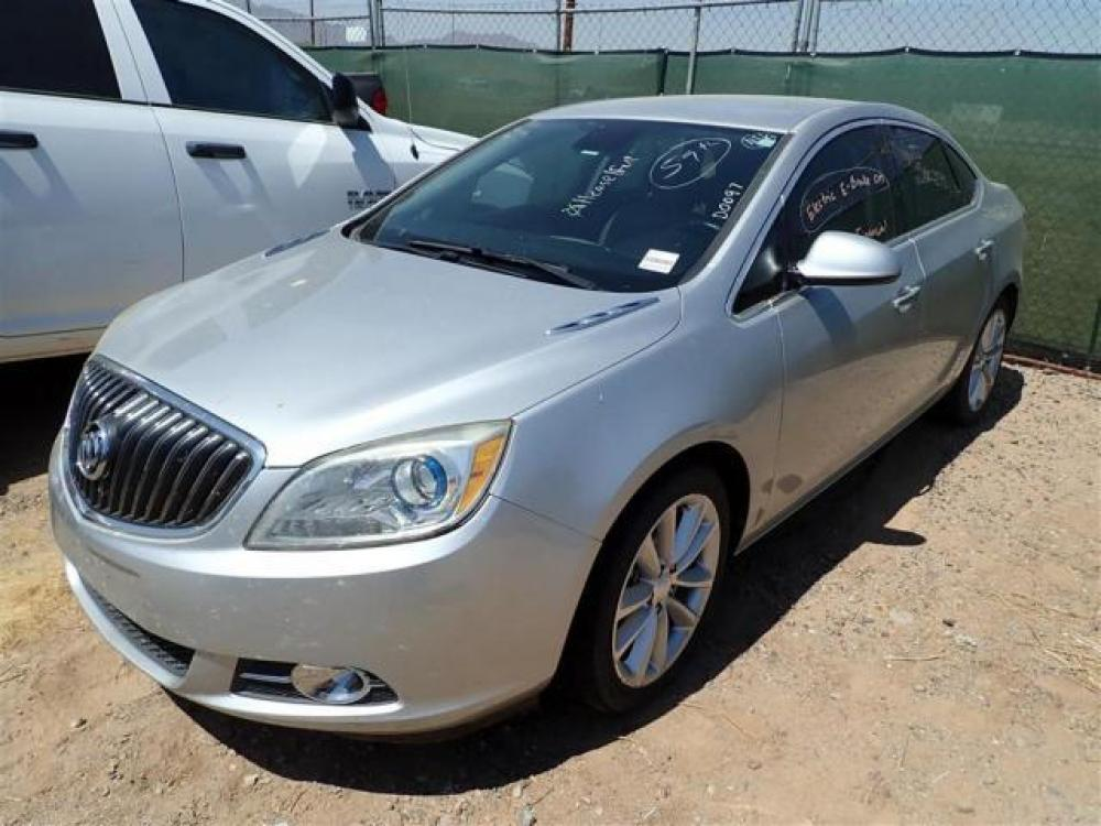 2014 Gold Buick Verano (1G4PP5SK8E4) with an 4-Cyl ECOTEC 2.4 Liter engine, Auto, 6-Spd w/Shft Ctrl transmission, located at 767 S State Road, Pleasant Grove, UT, 84062, (801) 785-1058, 40.352489, -111.732628 - Photo #0