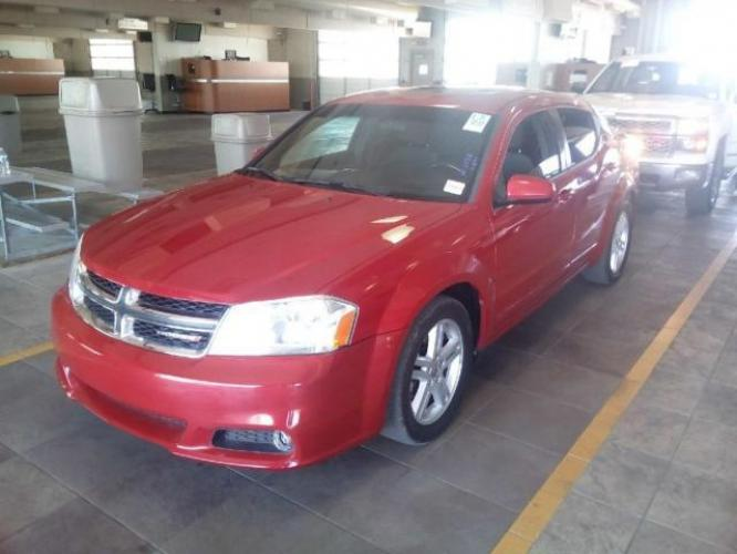 2013 Red Dodge Avenger (1C3CDZCG8DN) with an 4-Cyl 2.4 Liter engine, Automatic, 6-Spd w/AutoStick transmission, located at 344 Washington Road, Ogden, UT, 84404, (801) 399-1799, 41.257221, -111.969597 - Photo #0