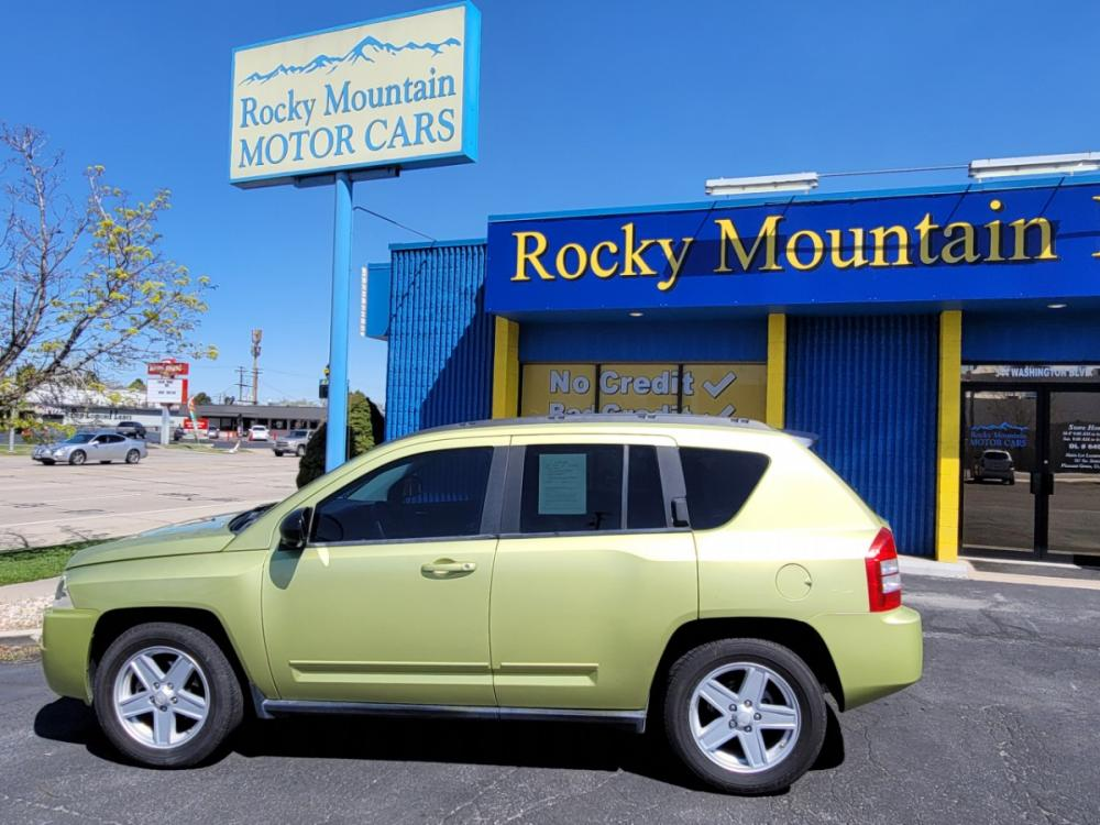 2010 Green Jeep Compass (1J4NF4FB0AD) with an 4-Cyl 2.4 Liter engine, Automatic, CVT w/Overdrive transmission, located at 344 Washington Road, Ogden, UT, 84404, (801) 399-1799, 41.257221, -111.969597 - Photo #0