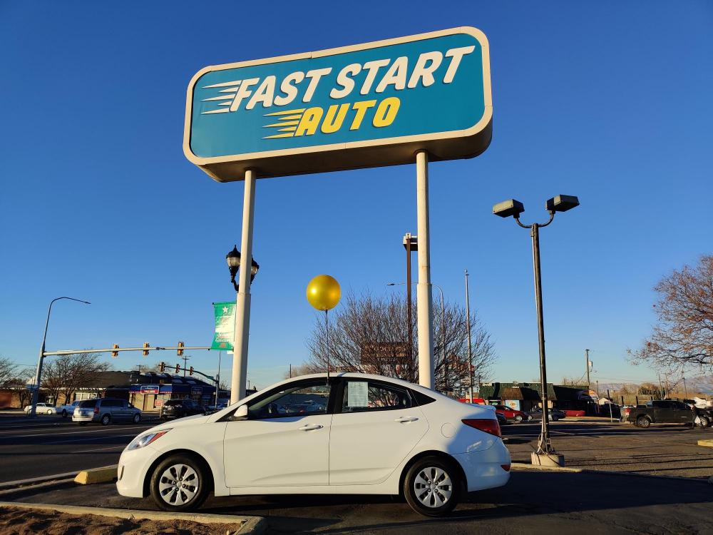 2016 White Hyundai Accent (KMHCT4AE3GU) with an 4-Cyl 1.6 Liter engine, Auto, 6-Spd w/Overdrive transmission, located at 767 S State Road, Pleasant Grove, UT, 84062, (801) 785-1058, 40.352489, -111.732628 - Photo #0